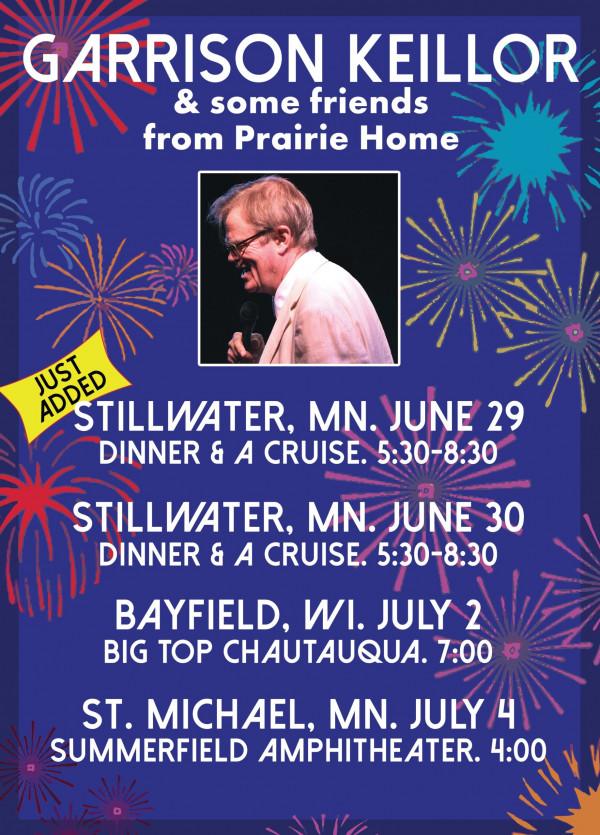Just Added:  Stillwater, MN 6-29